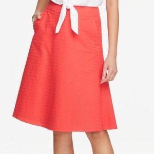 Ann Taylor factory petite dobby full skirt